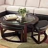 Okrągły stolik z 4 taboretami METZ