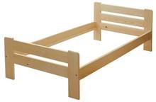 Łóżko wykonane z drewna sosnowego barwionego lub w kolorze naturalnym. Konstrukcja łóżka mocowana jest za pomocą czopów, dzięki czemu jest stabilna i...