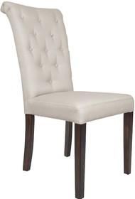 Krzesło Napoli posiada ozdobny wałek umiejscowiony na górnej części oparcia. To nowoczesne, tapicerowane krzesło do kuchni, pokoju czy też jadalni....