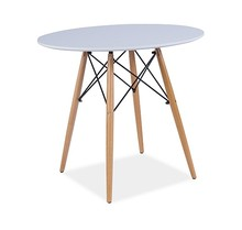 Stół SOHO 90 - biały/dąb