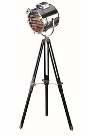 Unikalna lampa stojąca LS-18 z drewna i metalu. Dane techniczne:  Wysokość lampy - 170 cm Rodzaj materiału - drewno/metal Rodzaj - E27 Moc - 60 W
