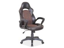 Fotel biurowy Q-115 - czarny/brązowy