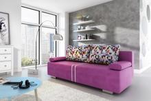 Przedmiotem oferty jest sofa Malina.  Posiada funkcję spania, pojemnik na pościel oraz automat wspomagający rozkładanie.  Wymiary: Szerokość: 200 cm...