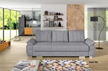 Przedmiotem oferty jest sofa Benita.  Na sprężynach falistych i sprężynach bonellowych. Sofa z funkcją spania, wspomagany systemem rozkładania tzw....