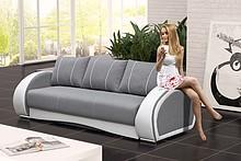Przedmiotem oferty jest sofa Cher.  Na sprężynach falistych i sprężynach bonellowych. Sofa z funkcją spania, wspomagany systemem rozkładania tzw....