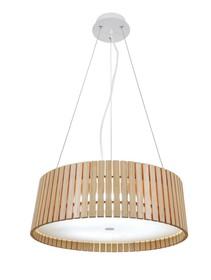 Lampa wykonana z drewna naturalnego <br />i tworzywa sztucznego, plexi.<br />Długość z kablem: 200 cm<br />Waga netto 1 szt.: 6 kg<br...