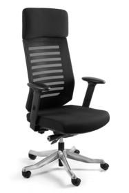 Cechy: - oparcie wykonane z siatki materiałowej przepuszczającej powietrze - zagłówek oraz siedzisko wykonane z tkaniny materiałowej przepuszczającej...
