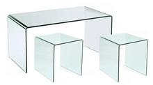 Zestaw stolików szklanych PERSOS A+B - szkło transparentne