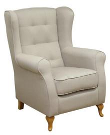 Komfort w stylowym wydaniu!  Wygodny fotel uszak ATOS Stelaż drewniany. Siedzisko: sprężyna falista oraz pianka poliuretanowa. Oparcie: pasy gumowe oraz...