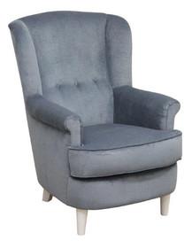 """Nowoczesny wymiar funkcjonalności!  Klasyczny fotel uszak EVORA Klasyczny fotel """"uszak"""" z guzikami Stelaż drewniany. Siedzisko: sprężyna falista,..."""