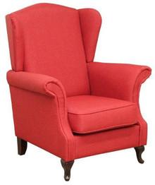 """Klasyka w najlepszym wydaniu!  Klasyczny fotel """"uszak"""" Stelaż drewniany. Siedzisko: sprężyna falista oraz pianka poliuretanowa. Oparcie: pasy gumowe..."""