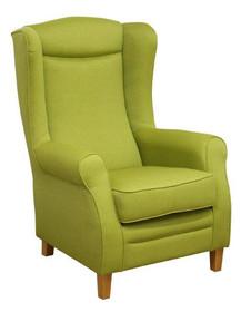 """Klasyka w komfortowym wydaniu!  Klasyczny fotel """"uszak"""" z wysokim oparciem. Stelaż drewniany. Siedzisko: sprężyna falista oraz pianka poliuretanowa...."""