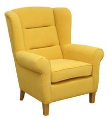 """Styl w komfortowym wydaniu!  Wygodny, solidnie wykonany fotel """"uszak"""" MARLON w kratę Stelaż drewniany. Siedzisko: sprężyna falista oraz pianka..."""