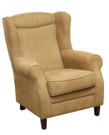 """Najlepsze rozwiązanie dla Twojego domu!  Klasyczny fotel """"uszak"""" . Stelaż drewniany. Siedzisko: sprężyna falista, bonell oraz pianka poliuretanowa...."""