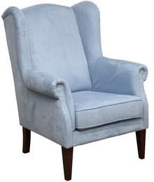 """Jakość i styl!  Wygodny, solidnie wykonany fotel """"uszak"""" Stelaż drewniany. Siedzisko: sprężyna falista oraz pianka poliuretanowa. Oparcie: pasy..."""