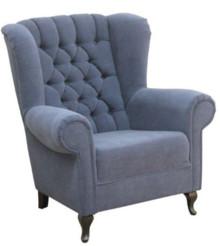 """Jakość i styl!  Klasyczny fotel """"uszak"""" z guzikami Stelaż drewniany. Siedzisko: sprężyna falista, bonell oraz pianka poliuretanowa. Oparcie: pasy..."""