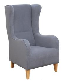 Jakość i styl!  Fotel uszak z wysokim oparciem, bardzo wygodny - ROBIN Stelaż drewniany. Siedzisko: sprężyna falista, bonell oraz pianka poliuretanowa....