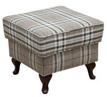 Funkcjonalne rozwiązanie w Twoim domu!  Klasyczna pufa w kratkę, stanowi idealny komplet z fotelem JUSTINA Cena uzależniona od wybranej tkaniny...