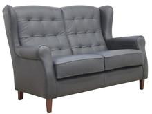 Komfort w stylowym wydaniu!  Klasyczna, skórzana, 2-osobowa sofa ATOS Stelaż drewniany. Siedzisko: sprężyna falista oraz pianka poliuretanowa. Oparcie:...