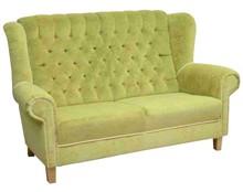 Funkcjonalność w Twoim domu!  Klasyczny sofa 2-osobowa z guzikami. Stelaż drewniany. Siedzisko: sprężyna falista oraz pianka poliuretanowa. Oparcie:...