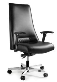 - Regulacja wysokości siedziska - Siedzisko i oparcie pokryte wysokiej jakości ekoskórą - Mechanizm odchylania SYNCHRON - pozwala na zatrzymanie oparcie w...