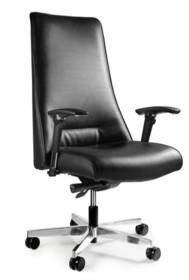 - Regulacja wysokości siedziska - Siedzisko i oparcie pokryte wysokiej jakości skórą naturalną - Mechanizm odchylania SYNCHRON - pozwala na zatrzymanie...