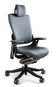 """- Zagłówek, oparcie i siedzisko wykonane z wysokiej jakości tkaniny materiałowej - Mechanizm ruchowy """"slid"""" pozwala zatrzymać oparcie w..."""