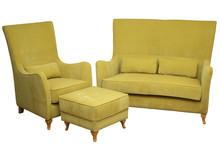 Komfortowe rozwiązanie dla Twojego salonu.  Klasyczny komplet wypoczynkowy PARIS: sofa 2 - osobowa, fotel i pufa. Meble wykonane są na stelażu...