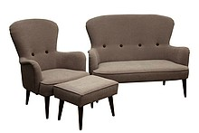 Komfort dla Twojego domu!  Nowoczesny komplet mebli wypoczynkowych OSLO:sofa 2-osobowa, fotel i podnóżek Meble wykonane na stelażu drewnianym....