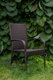 Krzesło SOTTILE - ciemny brąz