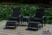 Atrakcyjny komplet mebli technorattanowych FRESCO pasuje do każdej przestrzeni outdoor. Ten ekskluzywny zestaw składa się z dwóch leżaków wraz z...