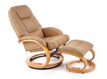 Fotel MATADOR z podnóżkiem - beżowy