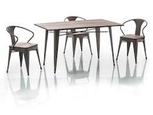 Funkcjonalność i styl!  Stół Almir jest niezwykle praktycznym meblem. Dzięki niewielkiemu rozmiarowi sprawdzi się w kuchni, a także w małym aneksie...