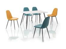 Stół FLORO 120x80 - biały/czarny