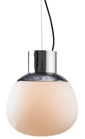 Klosz lampy wykonany jest ze szkła satynowego.<br />Górna część klosza oraz mocowanie sufitowe wykonane z metalu.<br />Długość z...