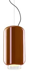 Lampa wykonana jest ze szkła lakierowanego.<br />Chromowany uchwyt sufitowy.<br />Długość z kablem: 180 cm<br />Źródło...