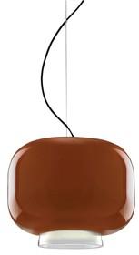 Lampa wykonana jest ze szkła lakierowanego.<br />Chromowany uchwyt sufitowy.<br />Długość z kablem: 160 cm<br />Źródło...