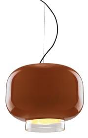 Lampa wykonana jest ze szkła lakierowanego.<br />Chromowany uchwyt sufitowy.<br />Długość z kablem: 160 cmŹródło światła: E 27<br...