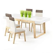 Wysokie krzesło dwukolorowe z kolekcji KYLA