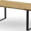 Mały stół dębowy z kolekcji DABLIN z grafitową podstawą