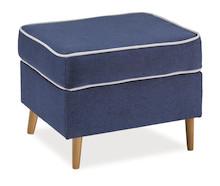 Stylowy puf Ralph stanowi doskonałe uzupełnienie fotela z tej samej kolekcji. Może się jednak sprawdzić równie dobrze jako samodzielny mebel. Posłuży...