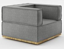 Fotel o szerokości 90 cm z kolekcji NOI Natural