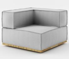 Fotel z jednym podłokietnikiem o szerokości 90 cm z kolekcji NOI Natural