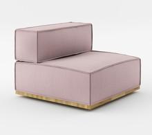 Fotel z jednym bokiem o szerokości 90 cm z kolekcji NOI Natural