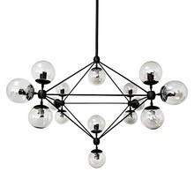 Lampa Planetario 15.<br />Konstrukcja lampy wykonana została z metalu w kolorze czarnym matowym.<br />Całość dopełnia 15 okrągłych...