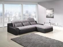 Narożnik BAVERO to nowoczesny i elegancki mebel o lekkiej formie. Narożnik posiada ciekawe pikowania, a dekoracyjne poduszki podnoszą komfort wypoczynku....