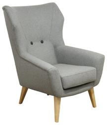 Funkcjonalność w Twoim domu!  Stylowy fotel JUNIOR. Stelaż drewniany. Siedzisko: sprężyna falista, bonell oraz pianka poliuretanowa. Oparcie: pasy...