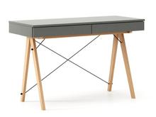 Biurko BASIC kolor GREY stelaż BUK (standard)  Minimalistyczne biurko z dwoma dyskretnymi szufladami. Wykonane ręcznie z litego drewna i blatu w dowolnym...