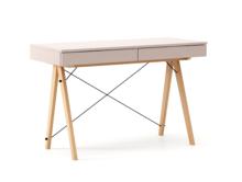Biurko BASIC kolor DUSTY PINK stelaż BUK (standard)  Minimalistyczne biurko z dwoma dyskretnymi szufladami. Wykonane ręcznie z litego drewna i blatu w...