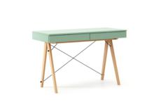 Biurko BASIC kolor MINT stelaż BUK (standard)  Minimalistyczne biurko z dwoma dyskretnymi szufladami. Wykonane ręcznie z litego drewna i blatu w dowolnym...